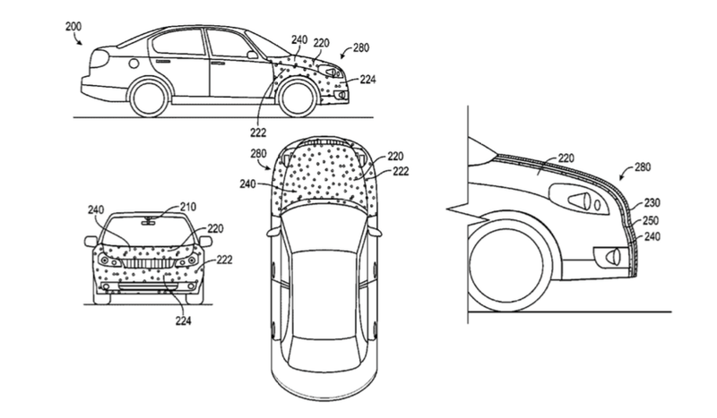 Google Patented a Sticky Car Hood That Traps Pedestrians Like Flies