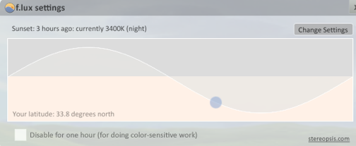 F.lux Changes Your Screen Brightness by Time of Day