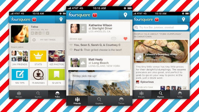 Foursquare Updates with New Design, Recommendations, and More