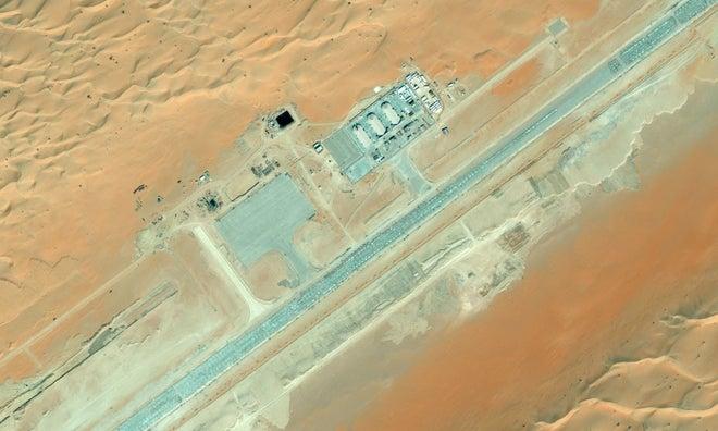 Una posible base secreta de drones de EE.UU. en Arabia Saudi, descubierta en Bing Maps