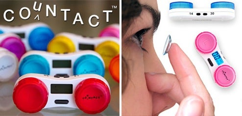 Countact Lens Case Keeps An Eye On Your Contact's Lifespans
