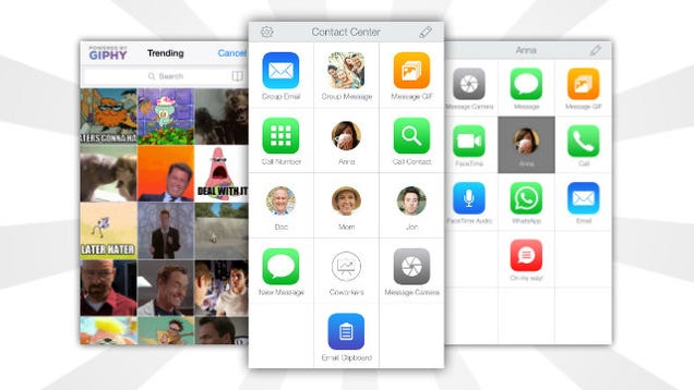 Contact Center Simplifies Sharing on iOS