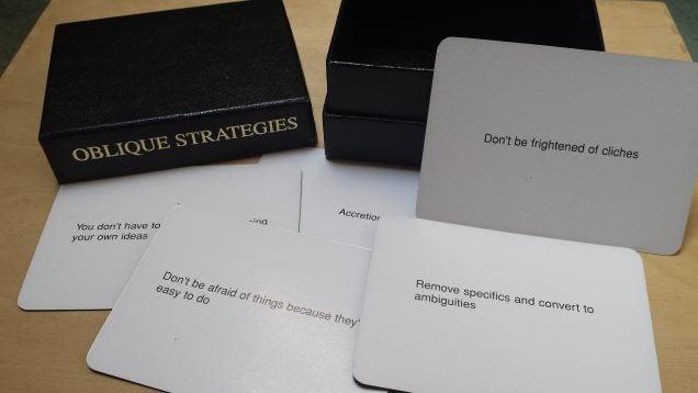 Brian Eno's Oblique Strategies Cards Break Down Creative Blocks