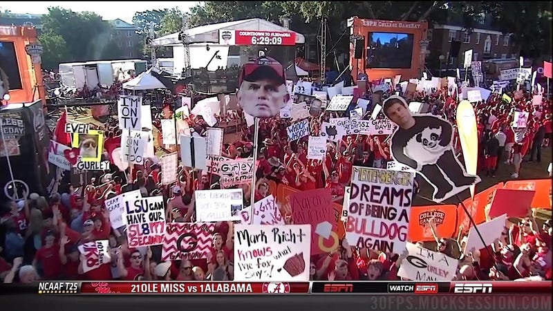 """Billy Ray Should've Pulled Out"": Georgia-LSU GameDay Sign Roundup"