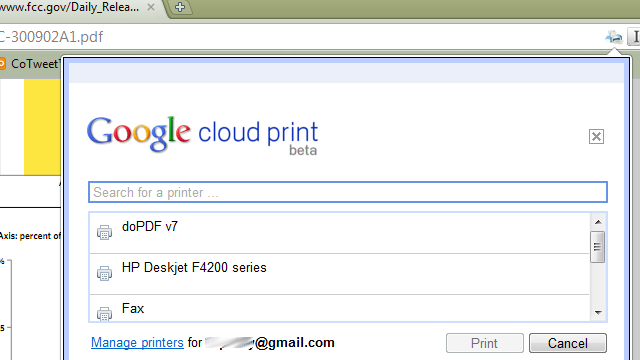 Chrome Cloud Print Extension Brings Print-at-Home Powers to Mac and Linux