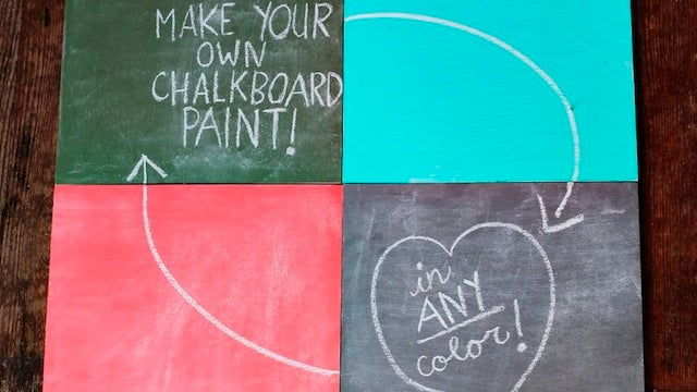 Mix Your Own Chalkboard Paint in Any Color You Want