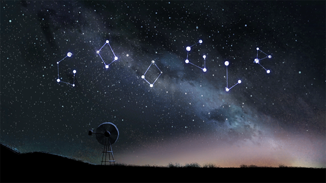 Today's Google Doodle is of the Perseid Meteor Shower
