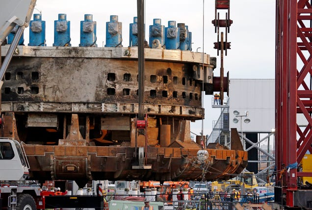 The World's Largest Tunneling Machine Is (Finally) Getting Rescued