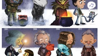 Adorable Drawing Charts John Hurt's Career From <i>Alien</i> to <i>Doctor Who</i>