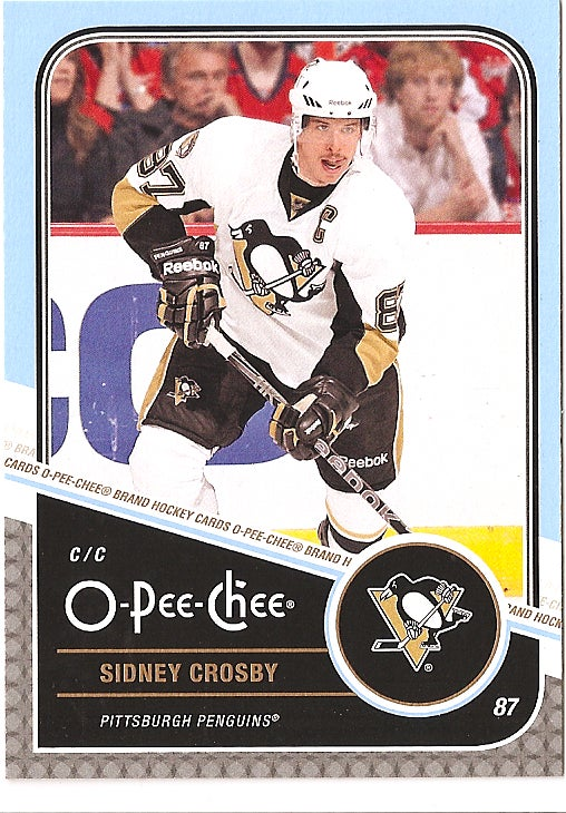 Pat Sajak Somehow Ended Up On A Sidney Crosby Hockey Card