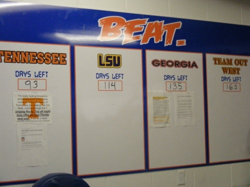 Florida Puts Bulletin Board Material On Actual Bulletin Board