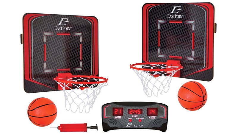 Live Out Your Hoop Dreams Anywhere With This Wireless Basketball Set