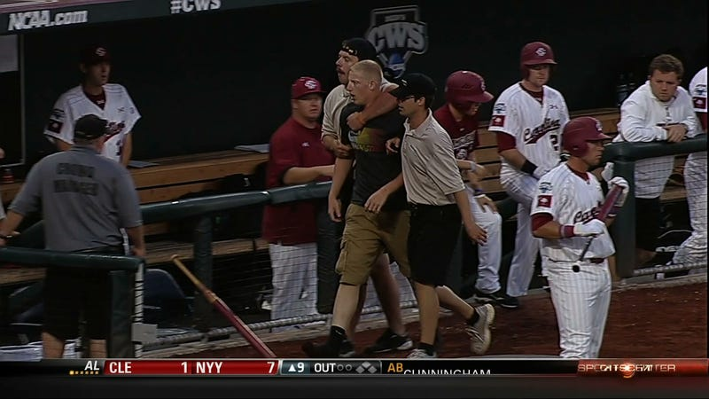 There Was An Entire Team Of Idiots On The Field At The College World Series Last Night