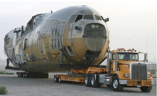 Boeing C-17 Fuselage Trucked Through Long Beach Streets In Dead Of Night