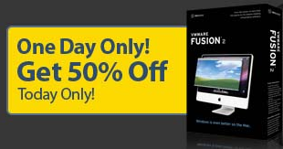 Get VMware Fusion for Half Price Today Only