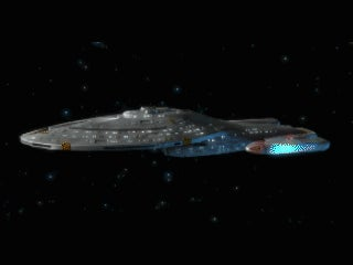 Watch Star Trek — Infinite Space's badass Intrepid-class starship take down a squadron of ships!