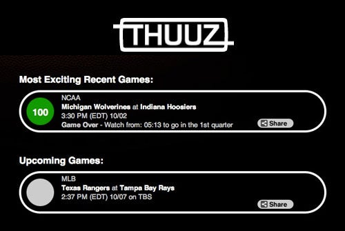 Thuuz Lets Sports Fans Know Which Games Were Great (or Not)