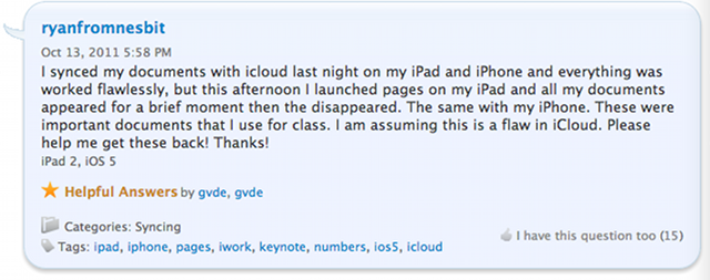 Apple Just Can't Keep iCloud In the Air