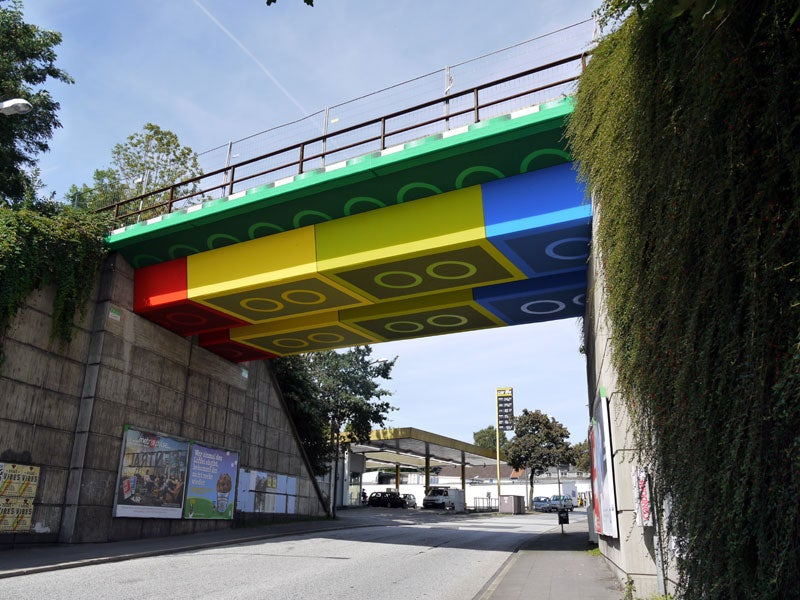 This Giant LEGO Bridge Looks Photoshopped (But It's Not)
