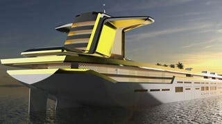 Yacht built on oil tanker hull will be the largest toy for the megarich