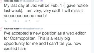 Jezebel's Rebecca Rose/Burt leaving for Cosmo
