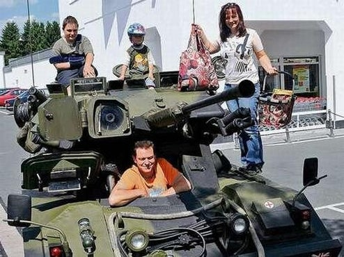 German Family Buys Armored Reconnaissance Vehicle For Grocery Runs