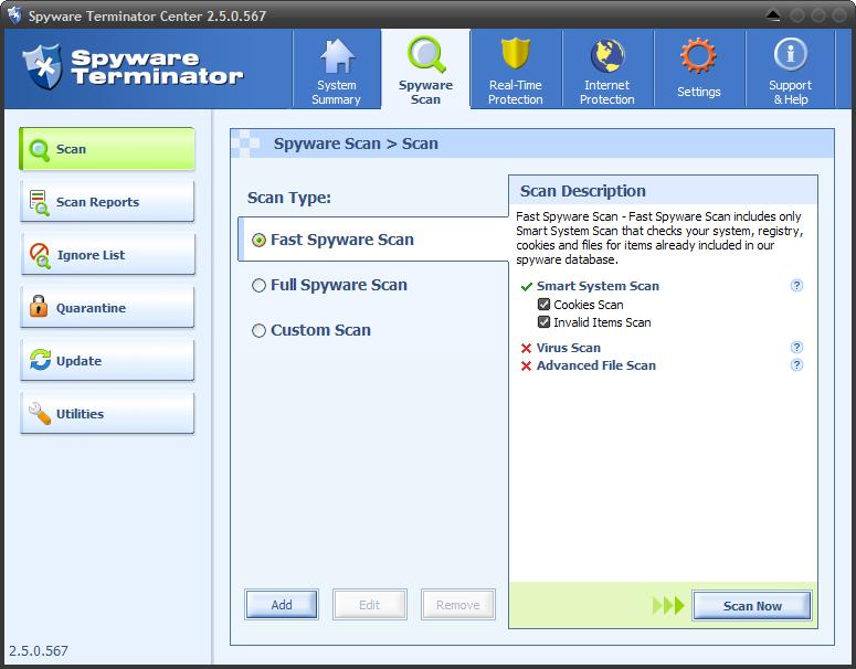 Spyware Terminator Kills Malware