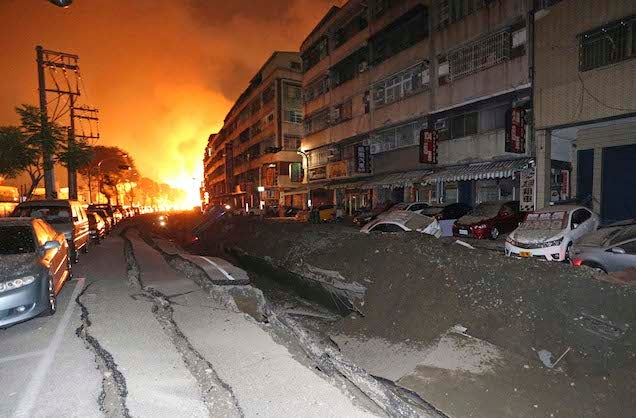 Gas Leak In Taiwan Triggers Explosion, Killing 22 and Injuring 270