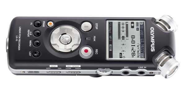 Olympus LS-10 PCM Stereo Recorder Is a Studio in Your Pocket