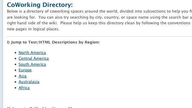 The Coworking Directory Wiki Helps Find a Coworking Center Near You