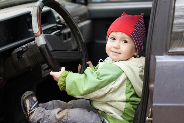 Car-Driving 5-Year-Old Almost Makes It