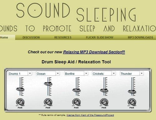Sound Sleeping Helps You Mix Custom Sleep Tracks