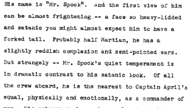 "Read the first draft of Gene Roddenberry's Star Trek pitch, starring ""Captain April"" and the ""S.S. Yorktown"""