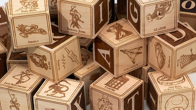 """These baby building blocks will indoctrinate your kid in """"Dork"""""""