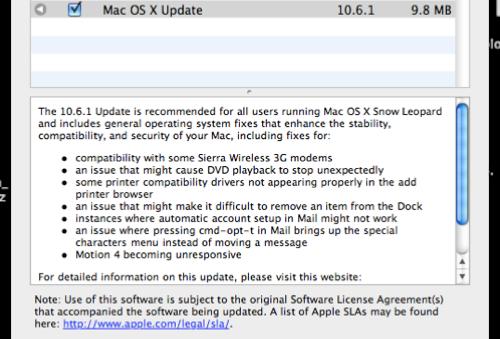Apple Updates Snow Leopard to 10.6.1