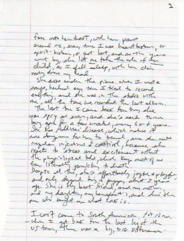 Fiona Apple's Dying-Dog Letter Is Very Sad