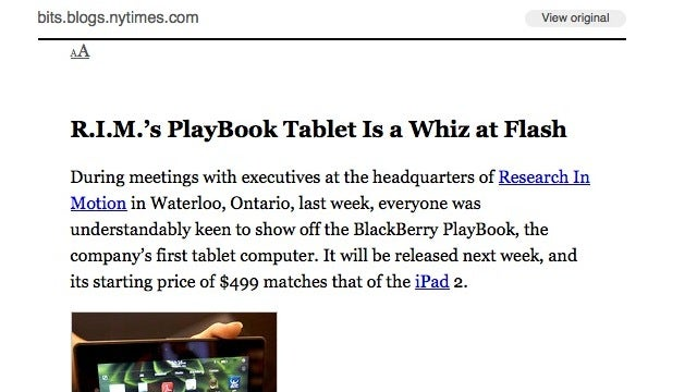 From the Tips Box: Data Overages, the New York Times Paywall, and Google Reader Font Size