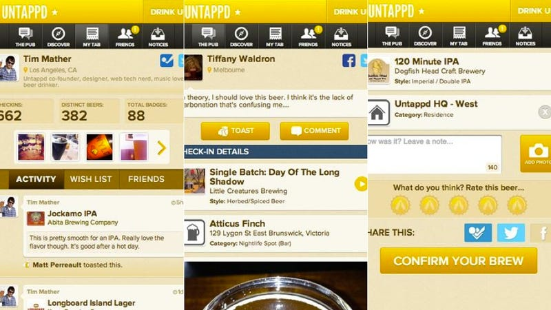 Untappd, Ticketmaster, and More