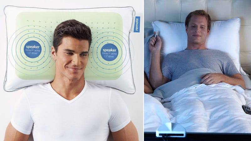 Wireless Pillow Speakers Put a Personal Home Theater In Your Bed