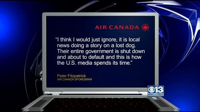Air Canada Rep Slams US Media for Reporting on Lost Dog During Shutdown