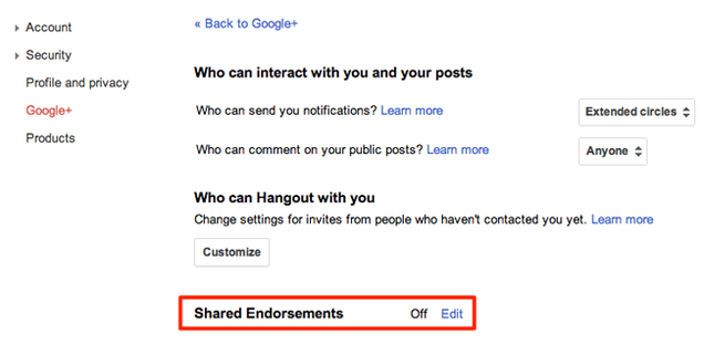 How To Opt Out of Google's Shared Endorsements