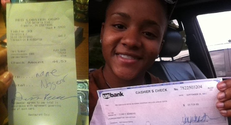 Red Lobster Server Who Found Racial Slur on Receipt Gets $10K 'Tip'