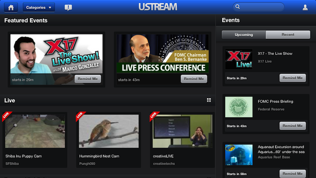 Ustream Is Finally on the iPad