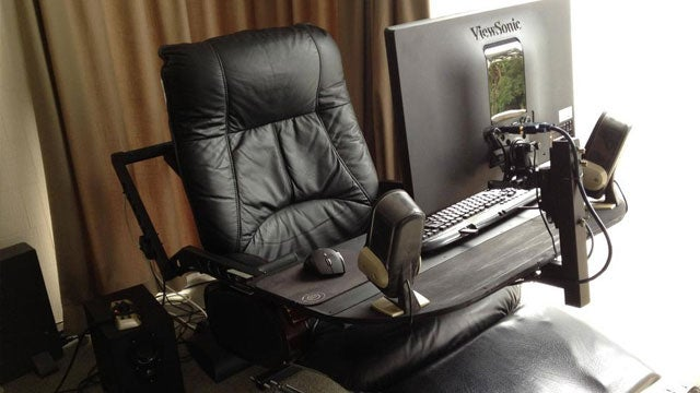 A Computer in a Leather Recliner: A Compact and Comfortable Workspace