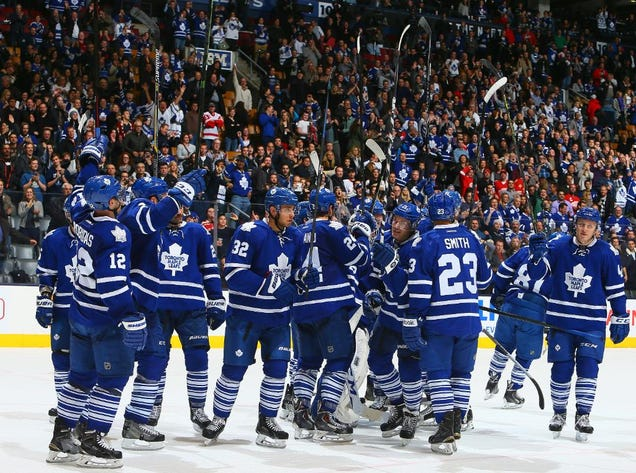 Maple Leafs Return To Saluting Fans, World Returns To Axis