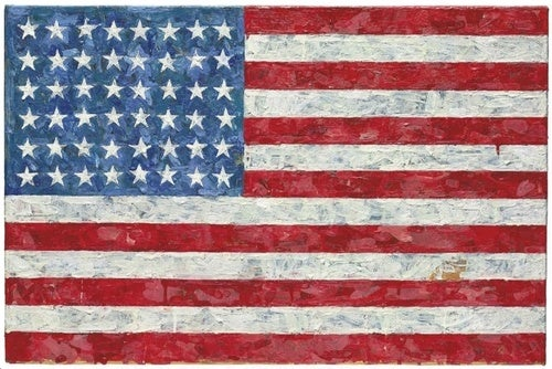 American Dream Beaten With American Flag