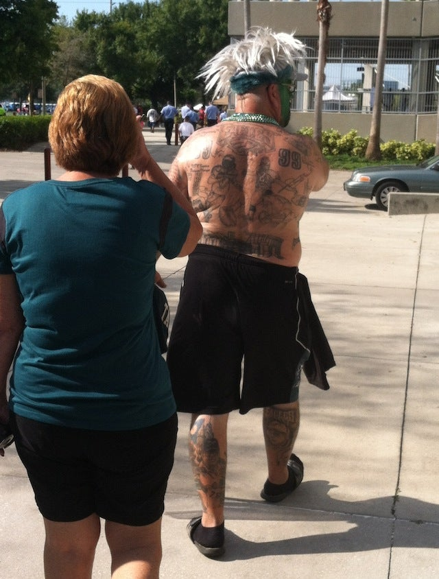 This Eagles Fan Is Covered In Unfortunate Tattoos