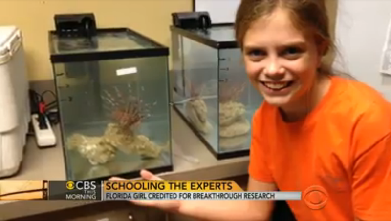 12-Year-Old Girl Studies Lionfish, Makes Scientific Breakthrough