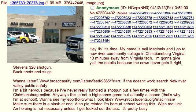 The Virginia Mall Shooting Was Announced in Advance on 4chan
