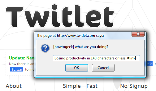 Twitlet Updates Twitter Easily (Without Extra Software)